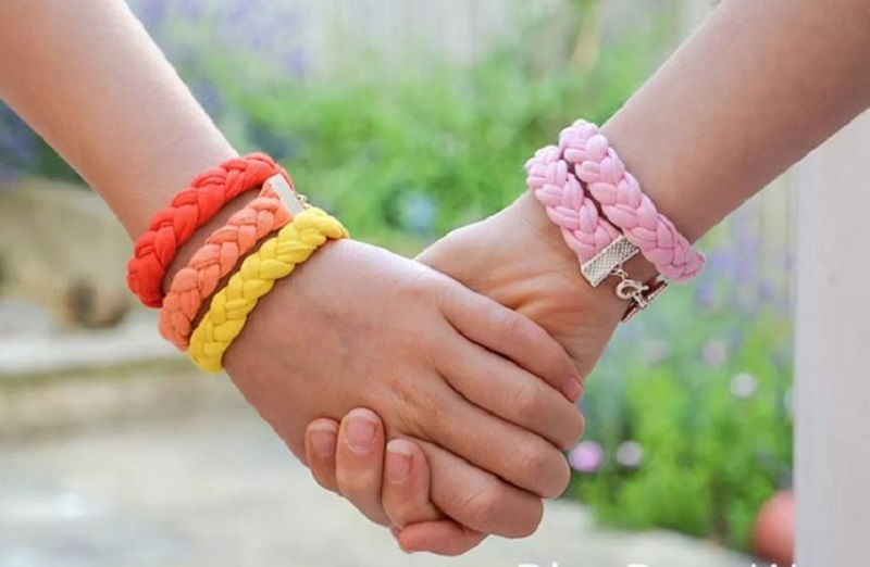 Bracelets from old t-shirts