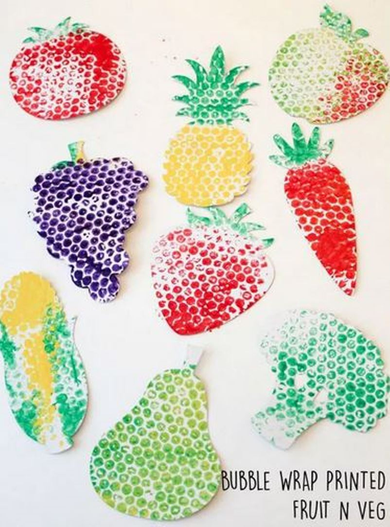 Bubble wrap fruits