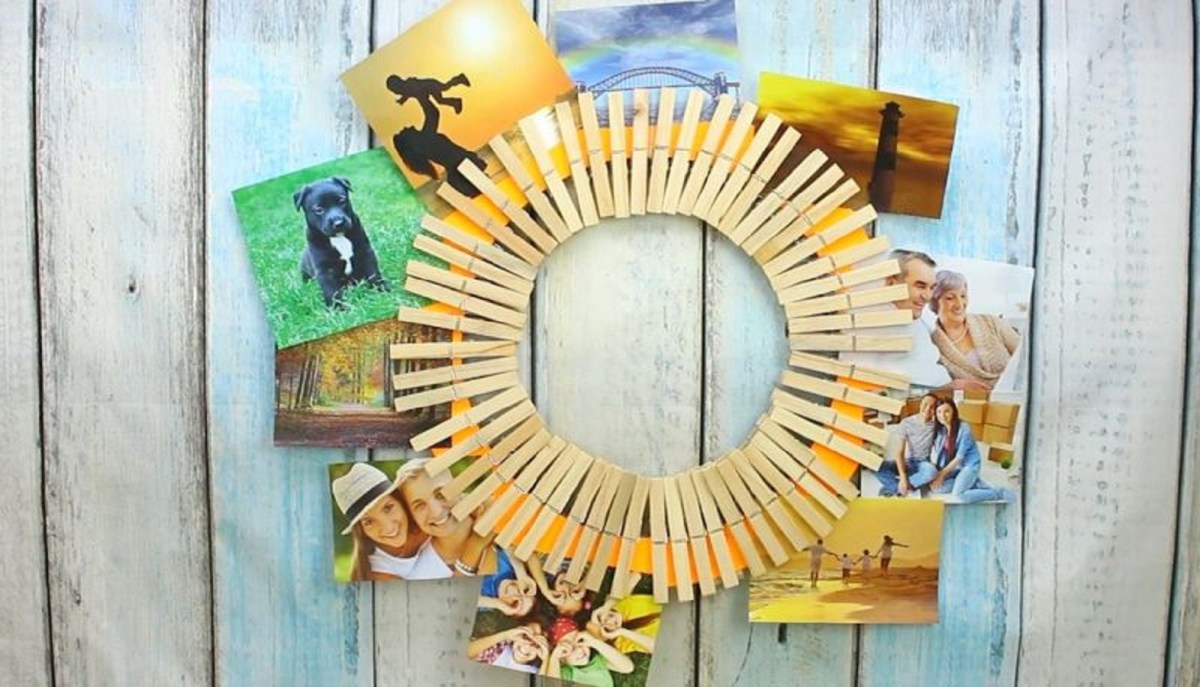Circle clothespins Unconventional DIY Craft Ideas You Can Do With Wood Clothespins