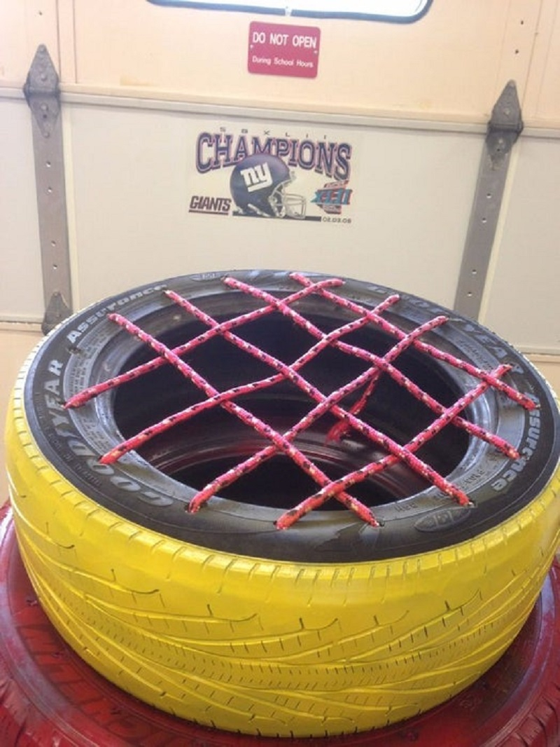 Diy old tire chair