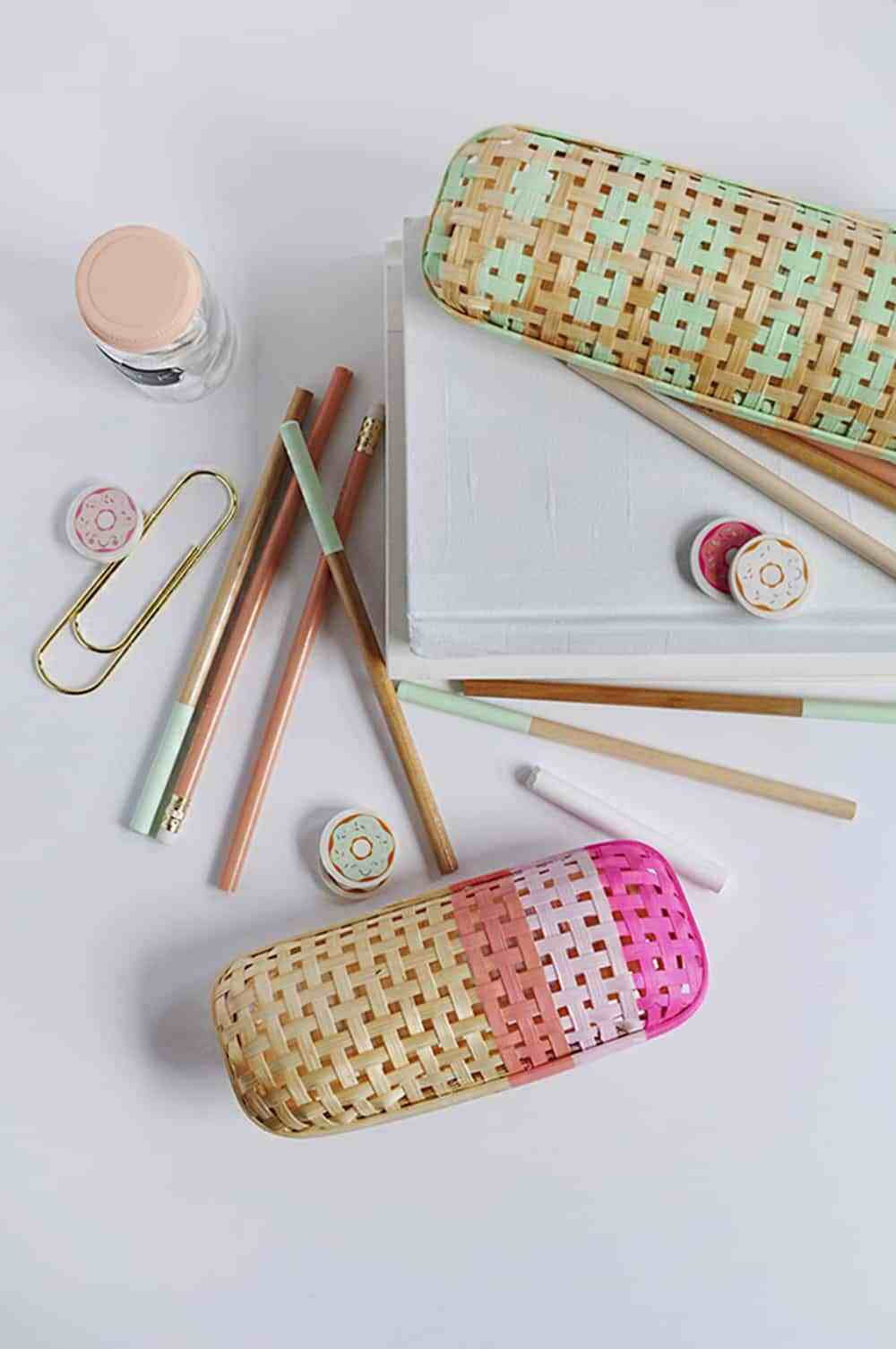 Diy rattan pencil case DIY Stylish Pencil Cases Ideas To Elevate Your Kids Style On School