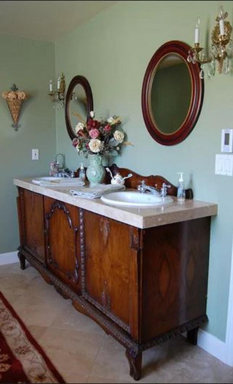 Diy sink from vintage vanity