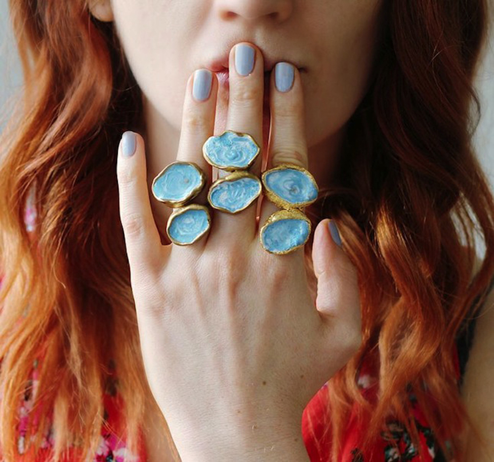 Faux agate rings DIY Captivating Ring Ideas To Add More Gorgeous Collection