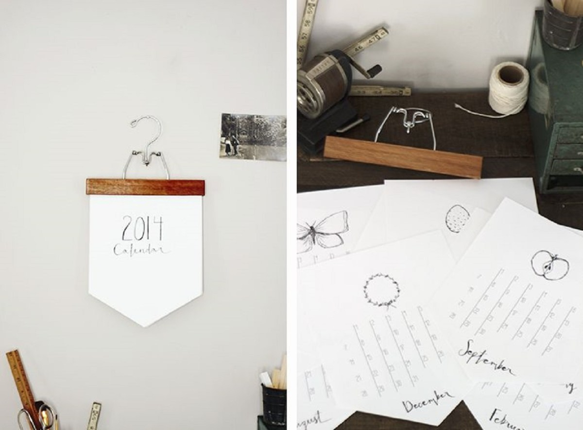 Hanger calendar Keep Your Days And Months Organized With DIY Calendars Instead Of Buy The New One