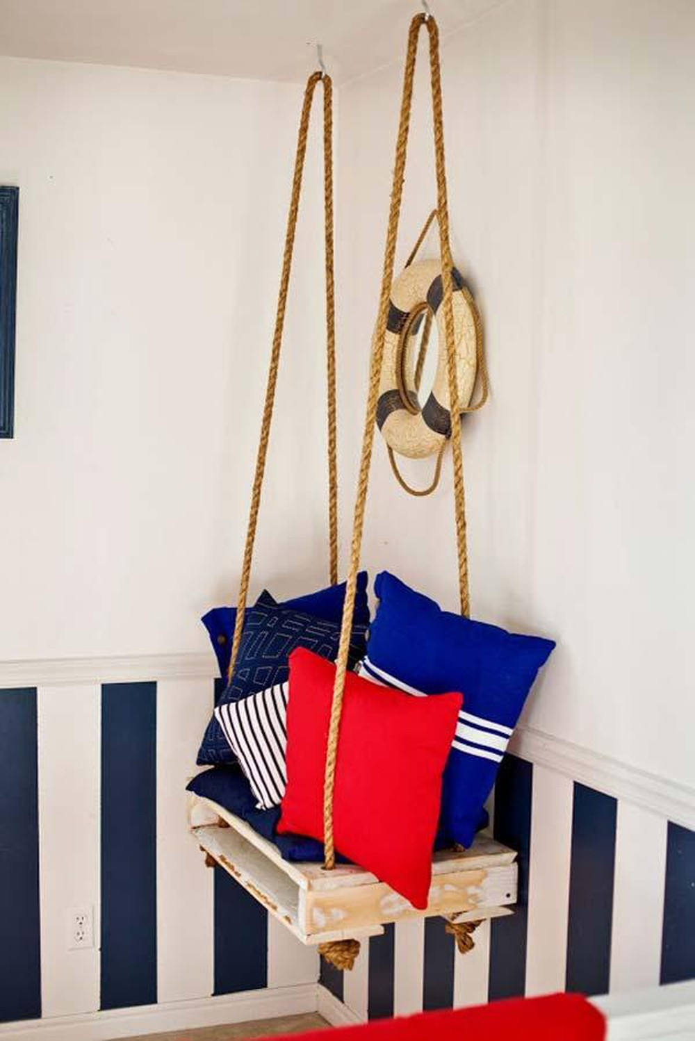 Hanging corner chair Epic DIY Hanging Chair Projects To Complete Your Home Presentation