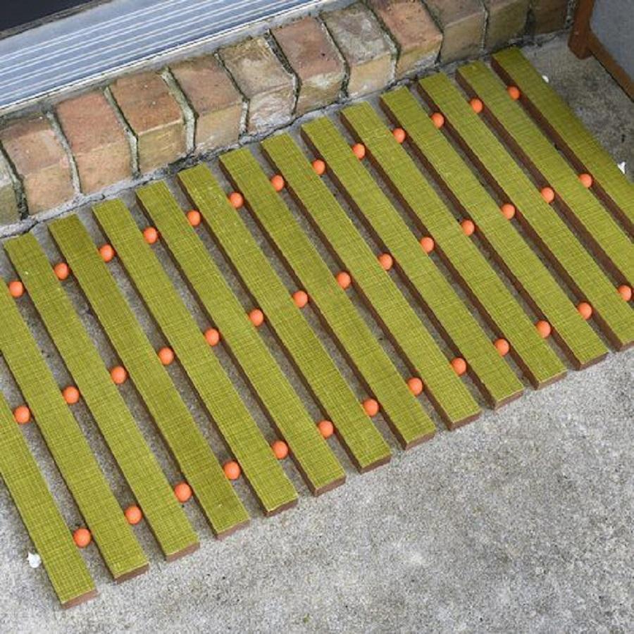 Mid-century modern diy wooden doormat DIY Doormat That Offers You Impressive Yet Inexpensive Ideas