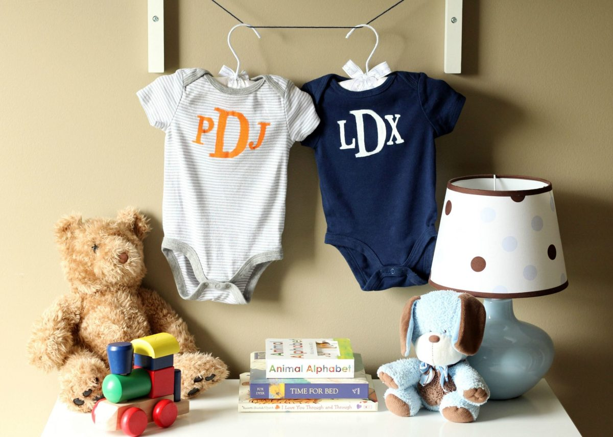 Monogrammed onesie DIY Bewitching Baby Wear Ideas For Your Little One That Saving Your Money