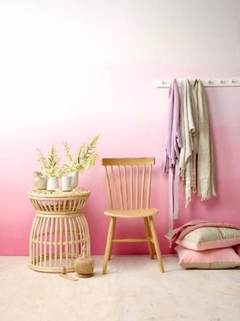 Pink ombre wall Appealing DIY Ideas To Paint On Blank Wall Where Teenage Can Do