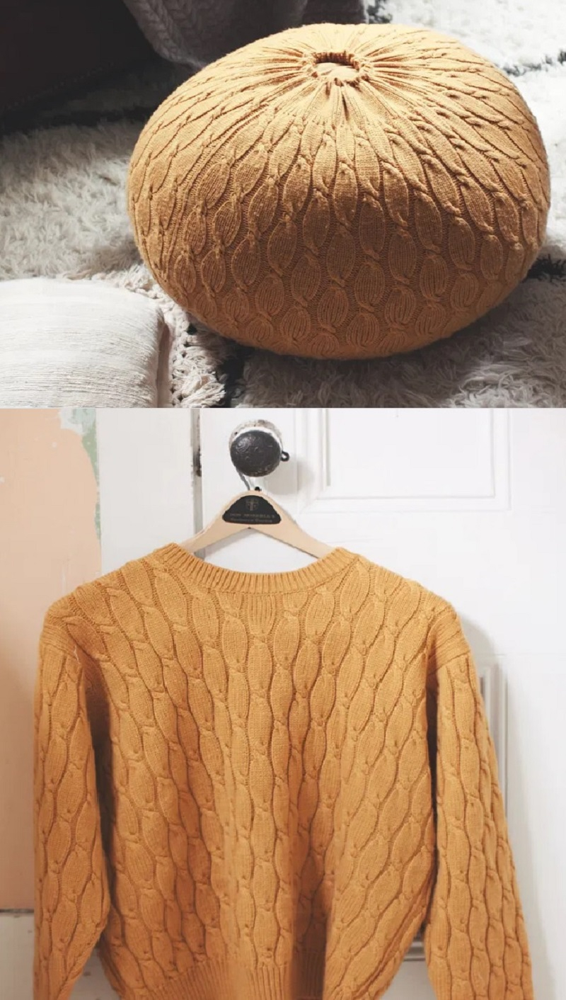 Repurpose sweater DIY Full Of Style Design Of Cozy Pouch That Is Unique And Versatile