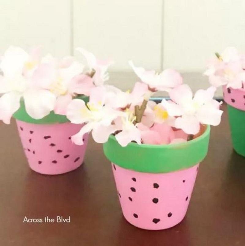 Watermelon flowers pots