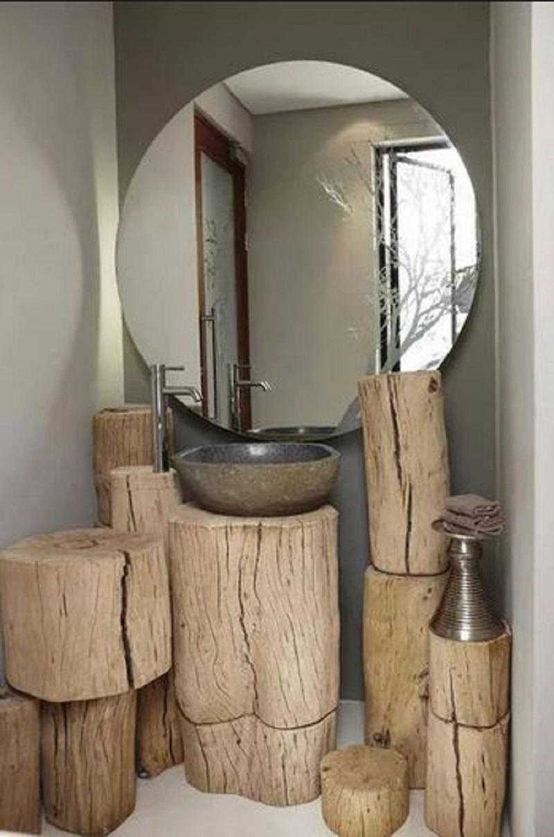 Wooden stamp vanity space