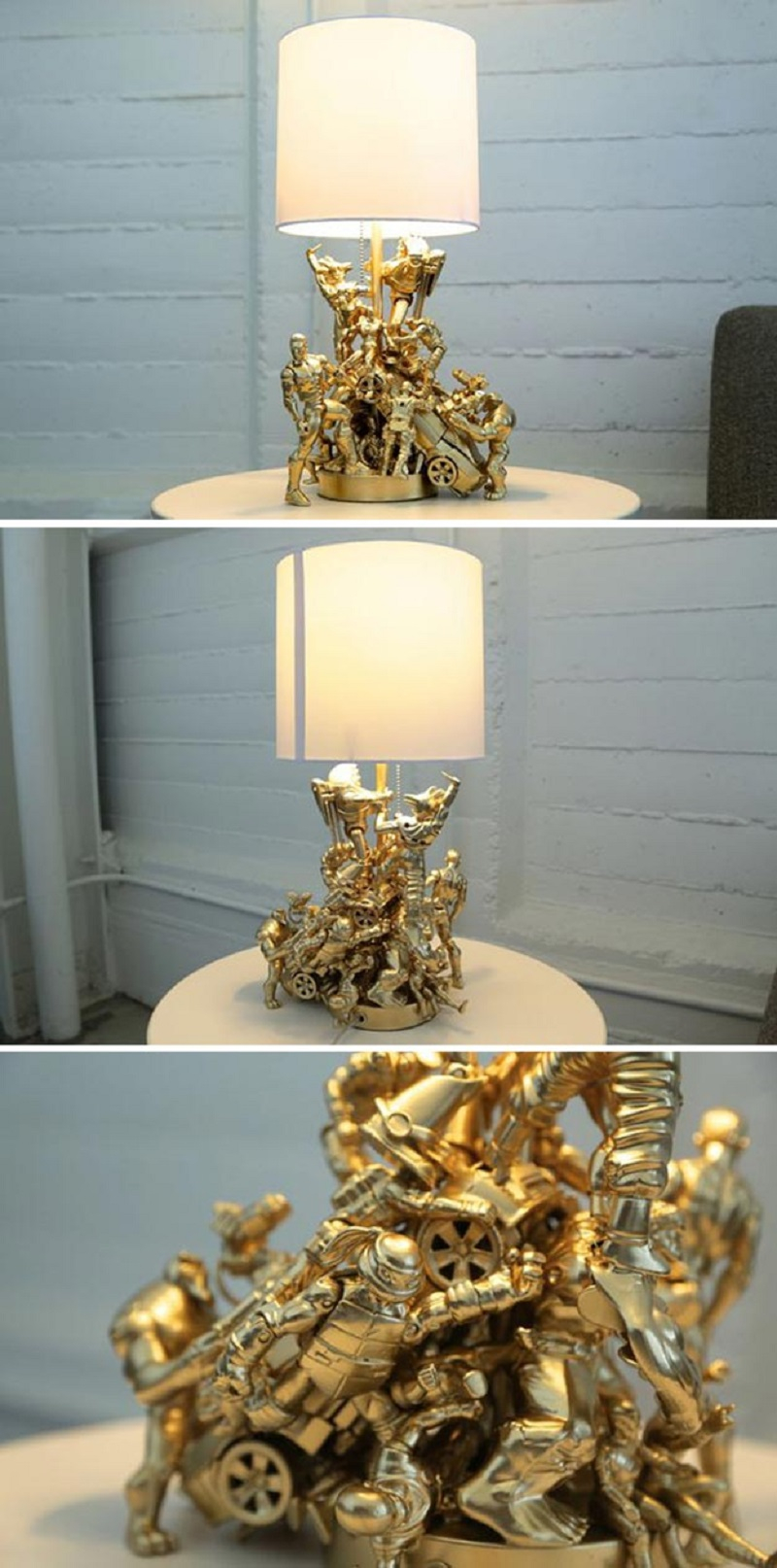 Action figure lamp Best DIY Ideas As Solutions To All Your Boys Room Décor Dilemmas