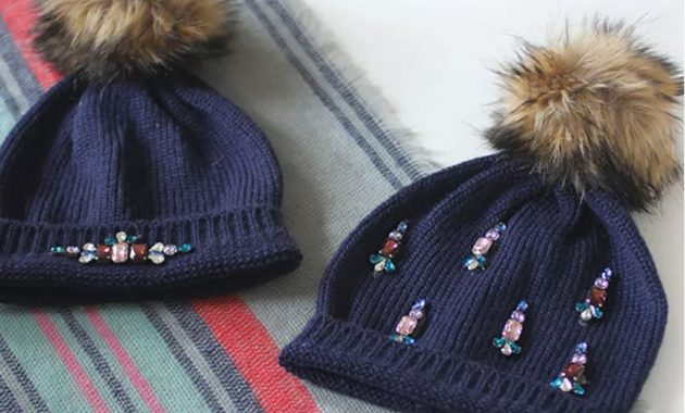 Hat with gems