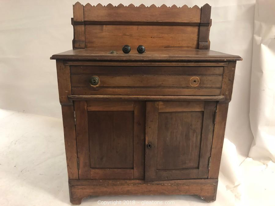 antique dry sink hand carved