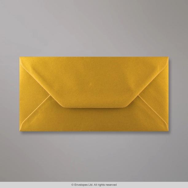 110x220 Mm DL Metallic Gold Envelope D04DL Simply