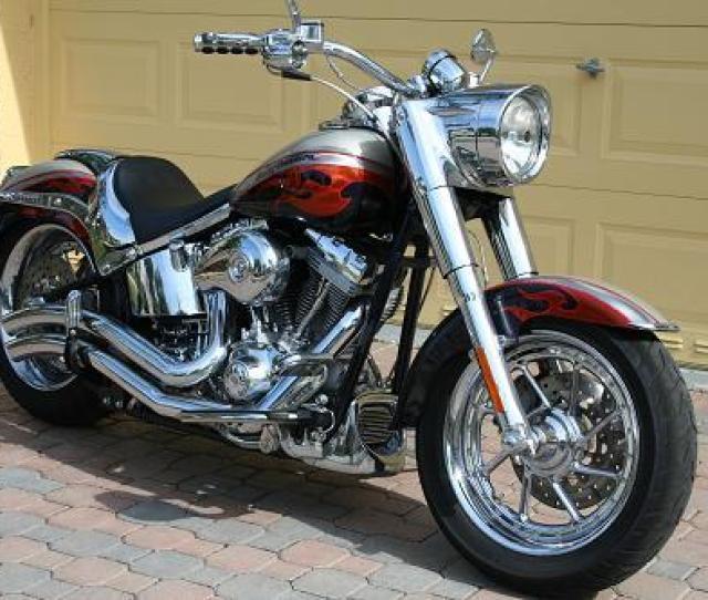 2006 Harley Davidson Flstfse2 Screamin Eagle Softail Fat Boy Two Tone Autumn Haze Abyss Blue Pembroke Pines Florida 253368 Chopperexchange