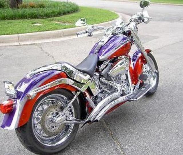 2006 Harley Davidson Flstfse2 Screamin Eagle Softail Fat Boy Concord Purple And Canyon Copper Overland Park Kansas 312311 Chopperexchange