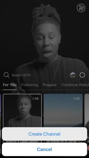 how to create your IGTV channel
