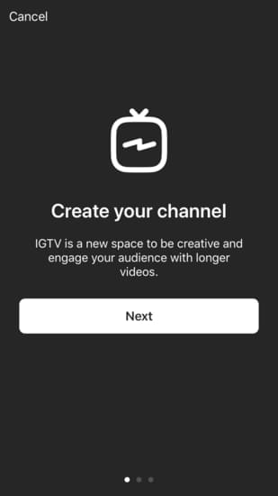 IGTV promts