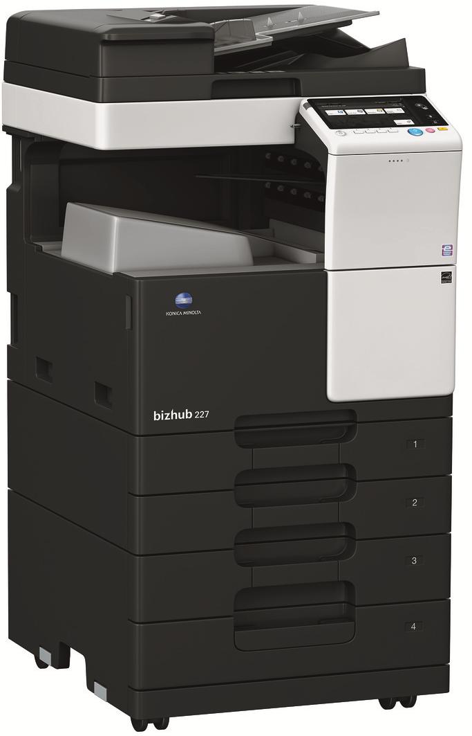 Konica Minolta Bizhub C227 Copier Printer Scanner Copyfaxes