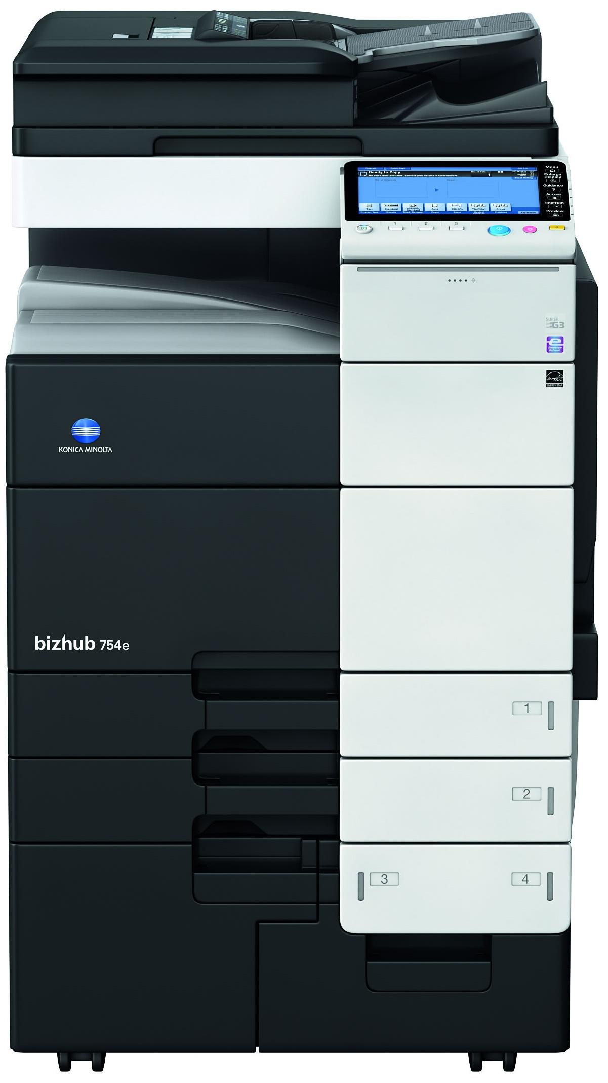 Konica Minolta Bizhub 754e Copier Printer Scanner Copyfaxes