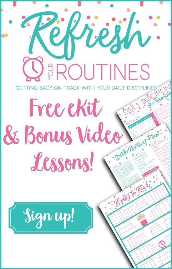 Refresh Your Routines Freebies