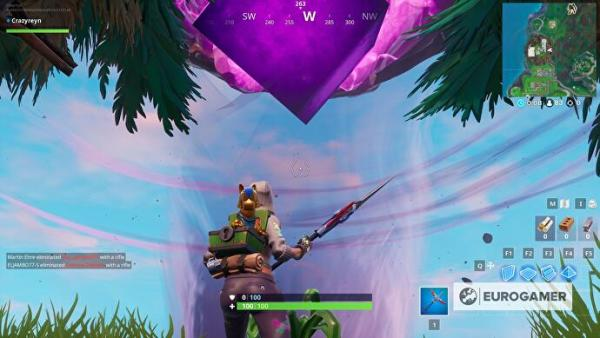 Fortnite - Touch a giant glowing cube, enter the Rift ...