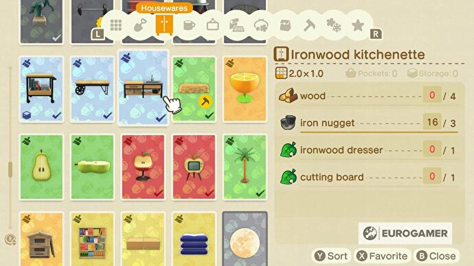 Animal Crossing kitchen furniture: How to design a kitchen ... on Ironwood Kitchen Animal Crossing  id=19555