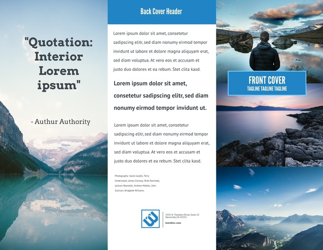 Free Brochure Templates   Examples  20  Free Templates  Big Sky Advertising   Marketing Brochure Template