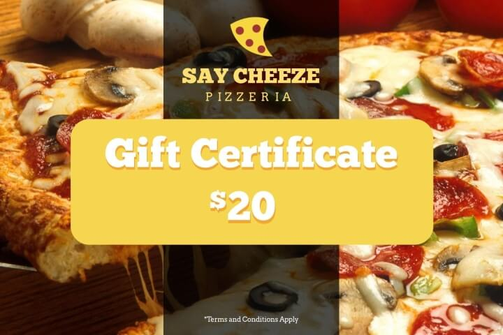 Restaurant Gift Certificate Templates   Examples   Lucidpress Pizzeria Restaurant Gift Certificate Template