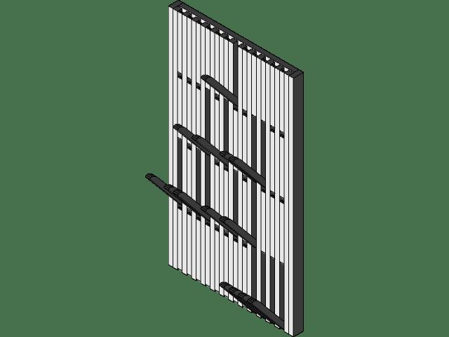 piano coat rack 3d cad model library
