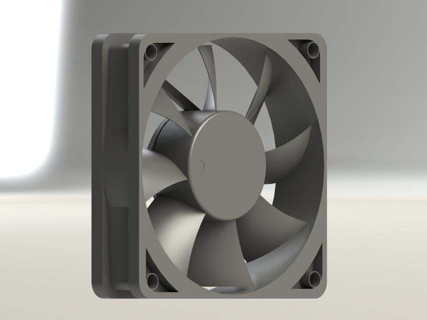 pc exhaust fan 3d cad model library