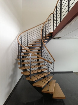 Stair Most Downloaded Models 3D Cad Model Collection Grabcad   Half Round Stairs Design   Grand Staircase   Wooden   Rounded   Railing   Beautiful