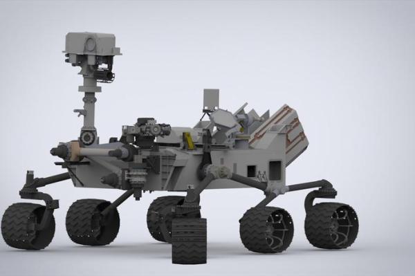 Mars Curiosity Rover 3D CAD model GrabCAD