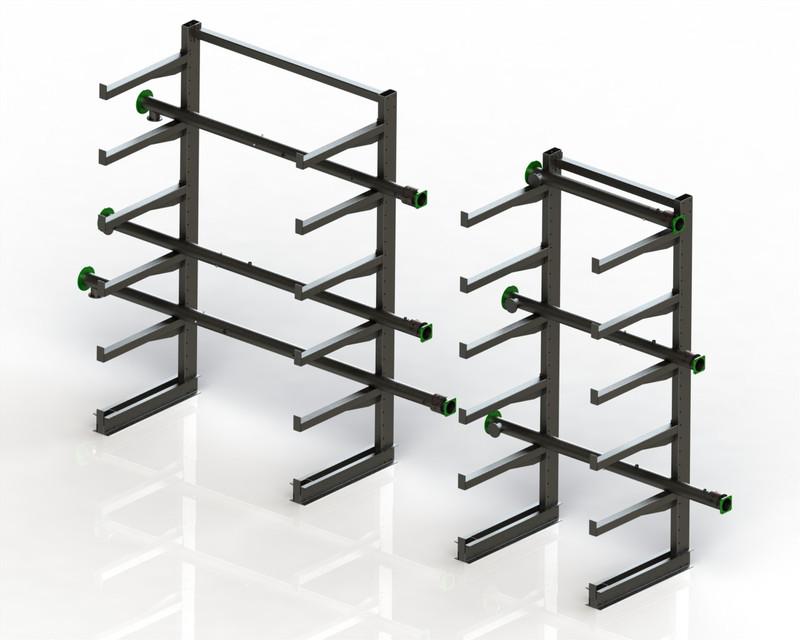 cantilever storage rack 3d cad model