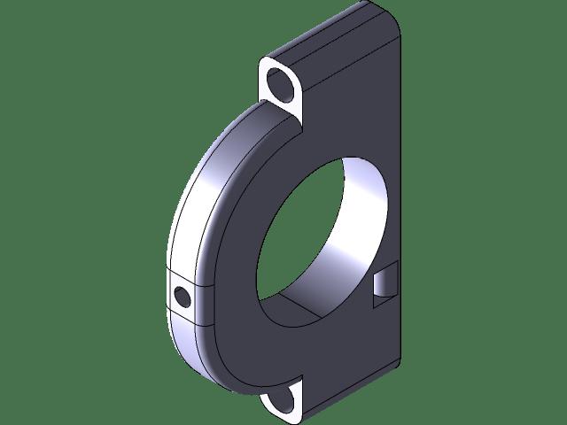support tringle a rideau 3d cad model