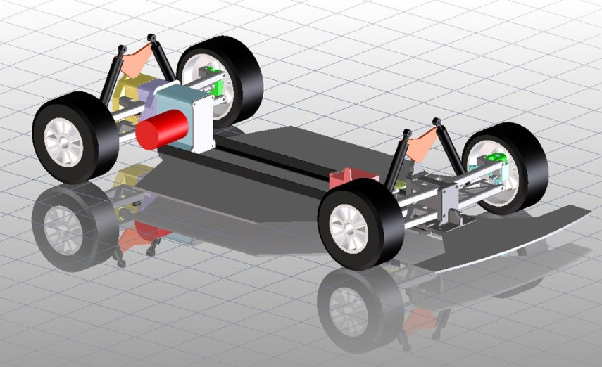 3d printed rc car chassis 1 6   3D CAD Model Library   GrabCAD