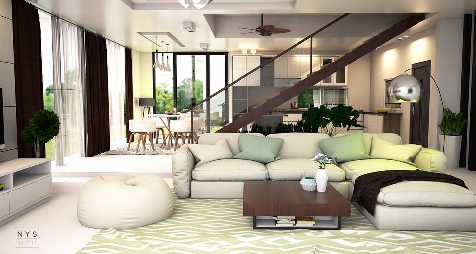 House Open Concept Plan 3d Cad Model Library Grabcad