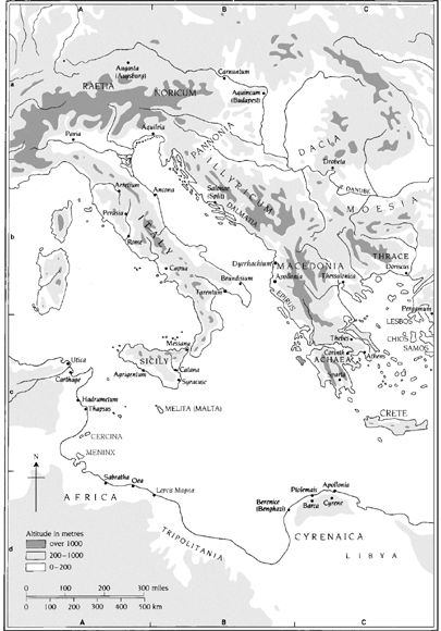 Map 6: Roman Empire, Central Portion