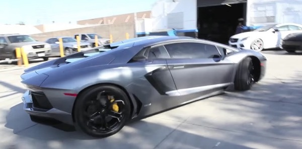 Chris Browns Lamborghini Aventador