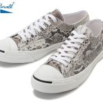 発売開始 CONVERSE JACK PURCELL NATURALPYTHON LEATHER