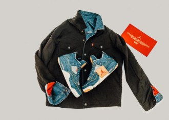 JORDAN BRAND X LEVIS AIR JORDAN IV AND REVERSIBLE TRUCKER JACKET-07