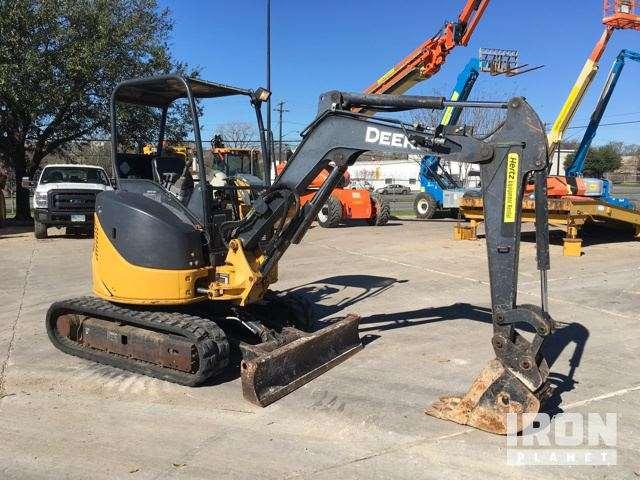 2010 John Deere 27D Mini Excavator For Sale, 2,386 Hours