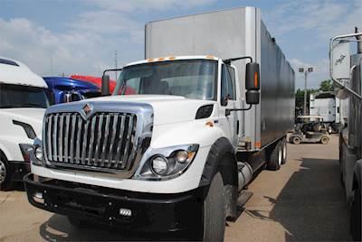 2013 international workstar 7600 tandem axle curtain side truck mf 350hp 10 speed manual