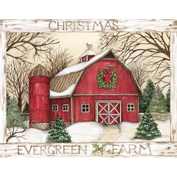 Lang Evergreen Farm Boxed Christmas Cards