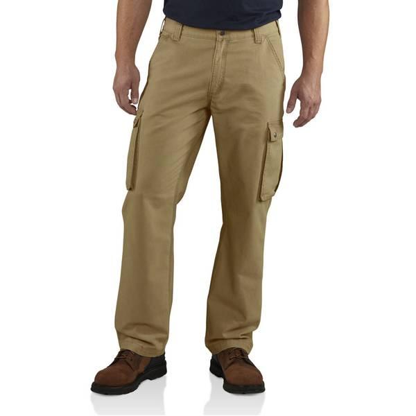 Carhartt Men's Khaki Rugged Relaxed Fit Cargo Pants