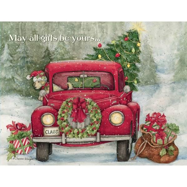 Lang Santas Truck Boxed Christmas Cards