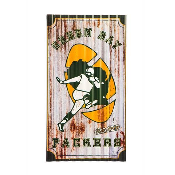 Team Sports America Green Bay Packers Corrugated Metal