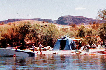 Boat access only campsite in 1969