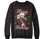Mark Sheppard's Happy Hellidays Collection Black Gildan Pullover Sweatshirt gift guide